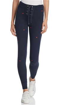 Sundry Navy Hearts Leggings