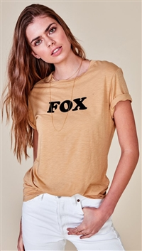 Mate The Label Ochre 'Beau Crew' Fox Top
