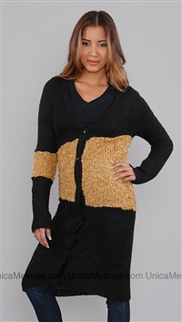 Wish Black and Brown Krishna Long Sweater