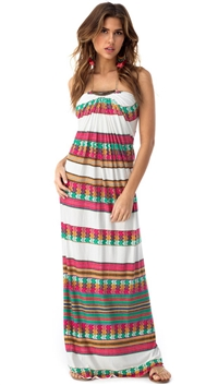 Sky Bone Sonnet Maxi Dress