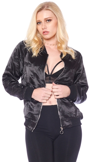 Honey Punch Black 'Star' Bomber Jacket