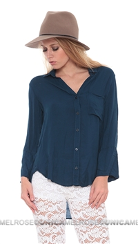 Bella Dahl Atlantic Split Back Button Up