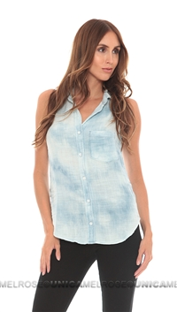 Bella Dahl Sleeveless Pocket Top