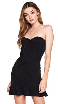 Unica Exclusive Black Strapless Knot Dress