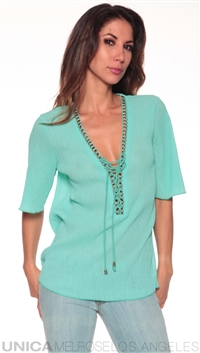 Casting Mint Long Sleeve Tunic