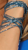 Sharon K Blue Rope Bracelet