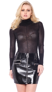 Rehab Black Long Sleeve Turtle Neck Bodysuit