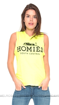 Brian Lichtenberg Homies Neon Yellow Muscle Tee in Black Ink