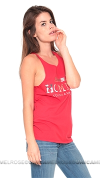 Brian Lichtenberg Homies Red Tank Top with Silver Foil