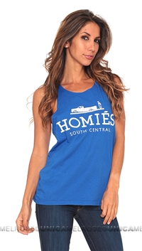 Brian Lichtenberg Homies Royal Blue Tank Top in White