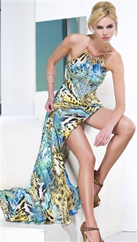 Baccio Couture Marilyn Silk Long Luxe Dress