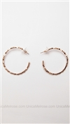 House of Harlow 14 kt Gold Plated Bone Hoop Earrings with Black Diamond Stones
