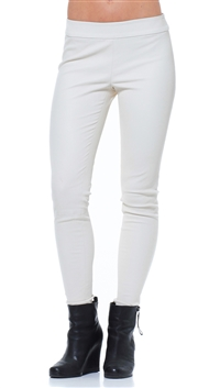 Alice + Olivia Bone Lamb Leather Pants