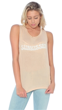 Daydreamer Toast 'Sunkissed' Cut Off Shirt