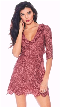 For Love & Lemons Rose 'Theodora' Mini Dress