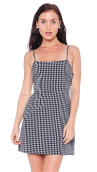 Cotton Candy LA Gingham Print Mini Dress