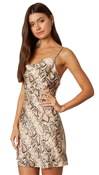 Cotton Candy LA Snake print Mini Dress