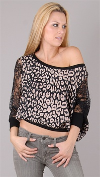 Miss Ferriday Leopard Dolman Top