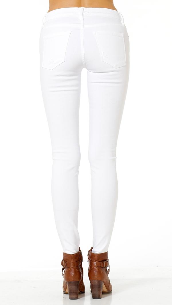 Frame Denim White Le Color Destroy Jeans
