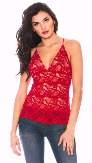 Nightcap Scarlet 'Classic Lace' Chemise Top