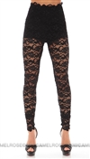 Nightcap Black Dixie Lace Pant