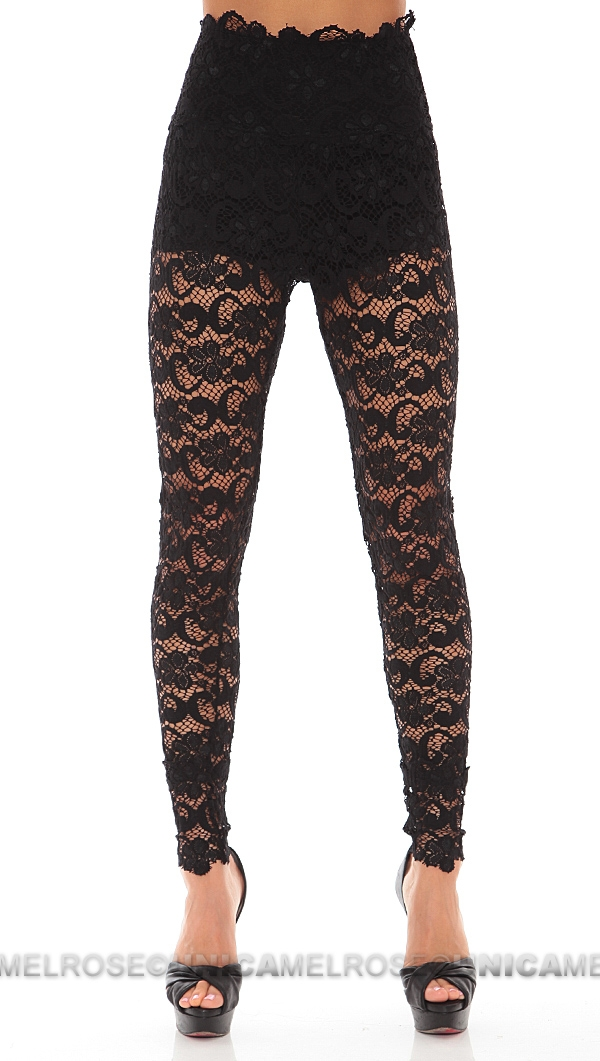 Nightcap Black Dixie Lace Pant