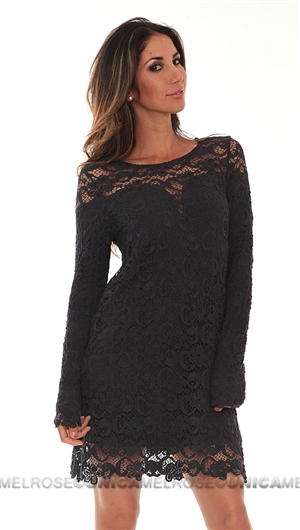 Nightcap Charcoal Lace Dress
