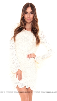 NightCap Ivory Tie Back 'Priscilla' Dress