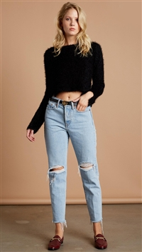 Cotton Candy LA Black 'Kimmie' Acrylic Sweater