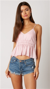 Cotton Candy Pink Empire Waist Top