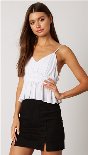 Cotton Candy White Empire Waist Top
