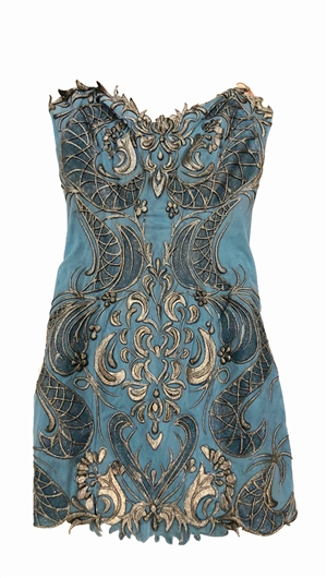 Ema Savahl Blue Strapless Mini Dress