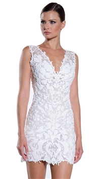 Ema Savahl White 'Aurora' Mini Dress