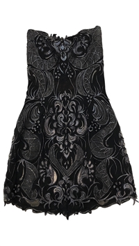 Ema Savahl Black Mini Dress with Lace
