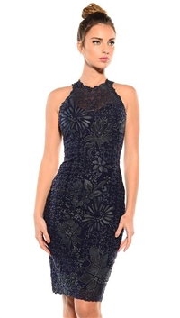 Ema Savahl Midnight Blue 'Arabesque' Knee Length Dress