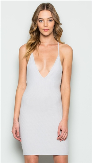 Makers of Dreams Silver Backless Tank Mini Dress