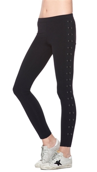 David Lerner Black 'Lattice' Leggings