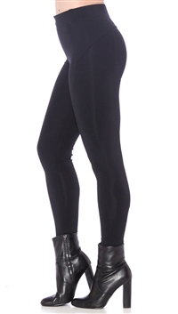 David Lerner Black Seamed High Rise Leggings