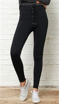 David Lerner Black 'Corset' Leggings