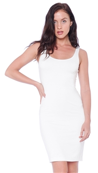 BLQ. BASIQ White Fitted Midi Dress