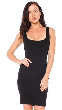BLQ. BASIQ Black Knit Midi Tank Dress