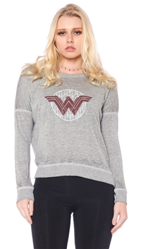 David Lerner Gray 'Wonder Woman' High Low Pullover