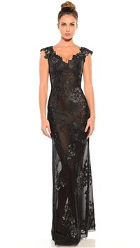 Ema Savahl Black 'Botanica Combo' Maxi Dress