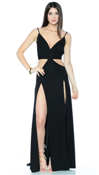 Abyss By Abby Black Diva Maxi Dress