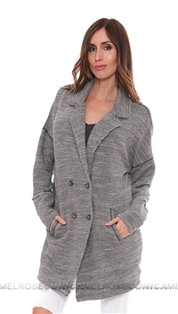 Free People Grey 'Casual Friday' Blazer