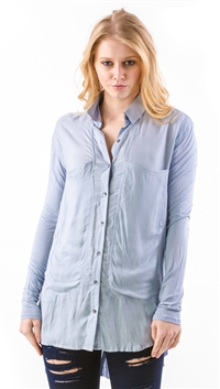 Free People Sky Blue 'Breakfast in Bed' Blouse