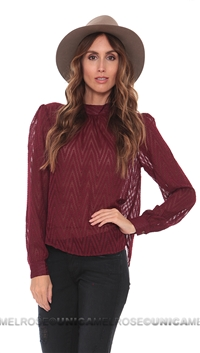 Free People Plum 'After Midnight' Blouse