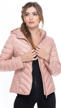 COALITION LA Blush Marathon Chevron Jacket