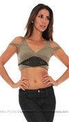 Free People Intimately Collection Green Crop With Lace Detail