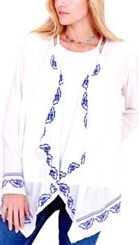 Unica Exclusive Ivory Long Sleeve Cover Up